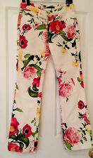 Roberto Cavalli Sexy Bright Fabulous Stretch Floral Jeans IT 40 US 4 6