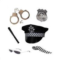 Ladies Women's Policewoman 6 Piece Set Fancy Dress Cop Costume Fun Accessory Hen