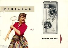 VEB Kinowerke Dresden Pentaka 8 Filmen Sie mit Werbung Dresden Prospekt 1959