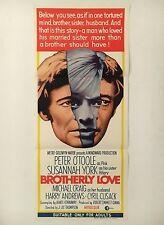 """BROTHERLY LOVE"" 1960's DAYBILL AUSTRALIAN MOVIE POSTER"