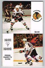 1981/82 Chicago Blackhawks NHL Hockey Media GUIDE