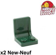 Lego - 2x Minifig utensil siège chaise seat 2x2 vert foncé/dark green 4079b NEUF