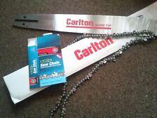 "20"" Carlton Bar and GB Chain Combo for DOLMAR Chainsaw 3/8 058 72 DL *quali"