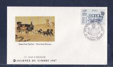 enveloppe 1er jour   journée du timbre  63 Clermont Ferrand      1987