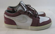 Nike Air Jordan Retro V1 Mens Sneakers  481177 108 White/Grey/Bordeaux size  8.5