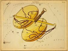 PAINTINGS DRAWING STAR MAP LIBRA SCALES CONSTELLATION ART POSTER PRINT LV3135