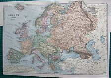 1901 LARGE VICTORIAN  MAP- EUROPE