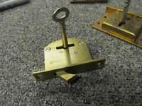 Legge Hook  BRASS BOX LOCK & KEY ,   -W35-