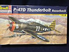 REVELL/MONOGRAM 1998 P-47D THUNDERBOLT RAZORBACK MODEL KIT-SEALED DENTED BOX