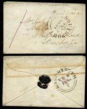GB 1844 SOUTHPORT 1d PURPLE MANUSCRIPT...MINIATURE ENVELOPE MANCHESTER COOTE