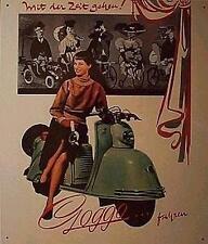 Altes Blechschild Oldtimer Motor_roller Goggo_Mobil  Werbung gebraucht  used