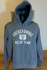 Abercrombie Logo Hoodie XL Extra Large Grey ACS