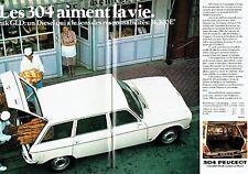 Publicité Advertising 057  1978  Peugeot  la 304 break GLD  (2pages)