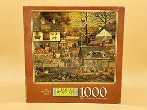 Charles Wysocki Milton Bradley 1000 Piece Puzzle Autumn at Stony Creek 4679-14