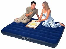 Intex Full Downy Airbed Mattress Spare Camping Sleepover Guest Portable Bed