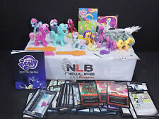 My Little Pony Lot of 11 Ponies & Collectible Card Game 60 CARDS + Marbles
