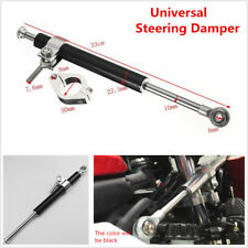 330mm Universal Steering Damper 6way Adjust Stabilizer For Honda Yamaha Kawasaki