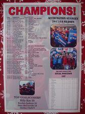 Accrington Stanley League Two champions 2018 - souvenir print