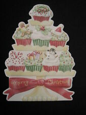 Carol Wilson Fine Arts 10 Christmas Cards Envelopes Cupcakes Cup Cake Boxed Set