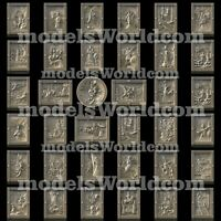 36 3D Models STL CNC Router Artcam Aspire Nordic Mythology Panels Cut3D Vcarve