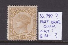 Victoria: 3d Shade? Stamp Duty Sg 299? Part Original Gum