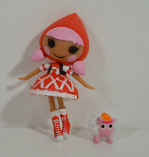 "3"" Scarlet Red Riding Hood w/ Sheep Pet Fairytale Mini Figure Doll Lalaloopsy"