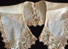 Antique Lace Collar Chiffon Doll Bonnet Sewing Costume Re-enactment