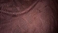 tissu jersey maille ajourée pull  col marron 100x140 cm à franges