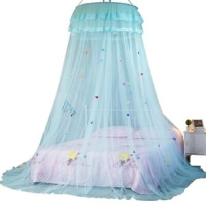 Mosquito Net Princess Bed Curtains Dome Canopy Hanging Ruffle Bed Netting Tent