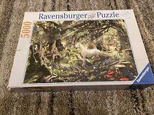 "5000 Piece Jigsaw Puzzle Ravensburger ""Fantasy""  Unicorn Animals EUC 40x60"
