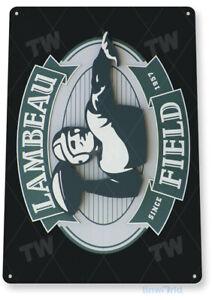 TIN SIGN Lambeau Field Green Bay Packers Metal Décor Art Bar A468