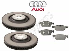 Front Left & Right Vent Disc Brake Rotors Pads Kit Genuine for Audi A8 Quattro