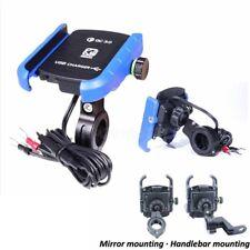 Cell Phone Holder USB Charger For Harley XL 883 Hugger Sportster Iron Roadster