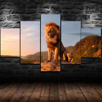 Proud Lion with His Lioness Picture Poster Art King /& Queen Framed Print
