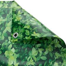 Brise vue pour balcon protection visuelle contre 0,9x6m motif feuillage vert