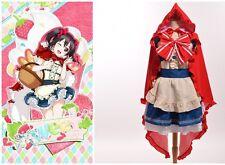 Red Hood Dress Anime Love Live Fairy Story Yazawa Nico Little Cosplay Custumes