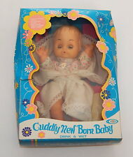 Playmates Cuddly New Born Baby Vintage Drink and Wet Style No. 3050 In Box