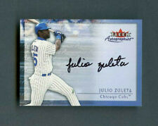 2000 Julio Zuleta Fleer Autographics Authentic Rookie On-Card Auto Chicago Cubs