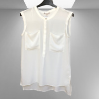New Dorothy Perkins Ladies Sleeveless White Blouse 8 12 BNWT