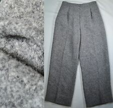 VALENTINO Boutique Sz 2/4 Grey Alpaca Wool High-Waist Wide-leg Silk-Lined Pants
