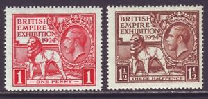 Great Britain 1924 SC 185-186 MH Set Empire Exhibition