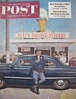 Saturday Evening Post September 22 1951 Pete's Double Headers KEN RILEY Complete