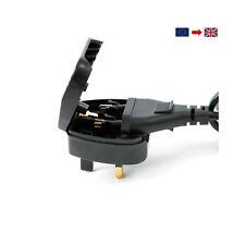 Euro EU 2 pin a pin Conversor Adaptador de enchufe de Reino Unido 3 Negro Adaptador de viaje – - BSI..