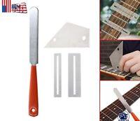 Guitar Fret Crowning File Leveling Tool Grinding Protectors DIY Repair Part Set