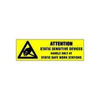 DESCO ATTENTION LABEL RS471 5//8 X 2 INCH 500 PKG 6734