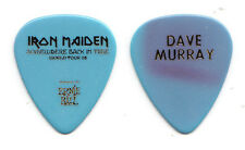 Iron Maiden Dave Murray Blue Guitar Pick - 2008 Somewhere Back In Time Tour
