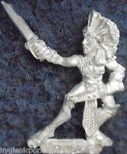 1989 DARK ELF mm73 nous 2 Sorcière MARAUDEUR GUERRIER armée Elfes drow Warhammer Citadel