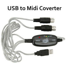 USB Interface to MIDI Converter Adapter Cable Keyboard Vista MAC Windows 7 8 10