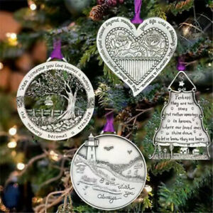 Christmas Memorial Ornament When Someone You Love Becomes a Memory Tree Pendant