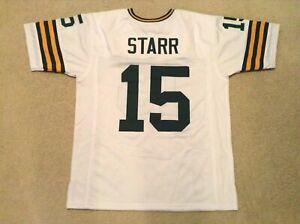 UNSIGNED CUSTOM Sewn Stitched Bart Starr White Jersey - M, L, XL, 2XL